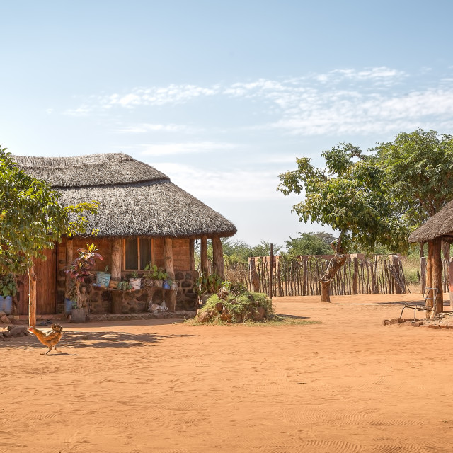 """""""Zimbabwean Homestead"""" stock image"""
