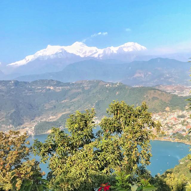 """View of Himalayan range"" stock image"