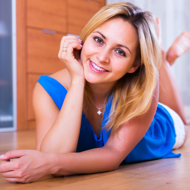 """""""Friendly girl in casual clothing"""" stock image"""