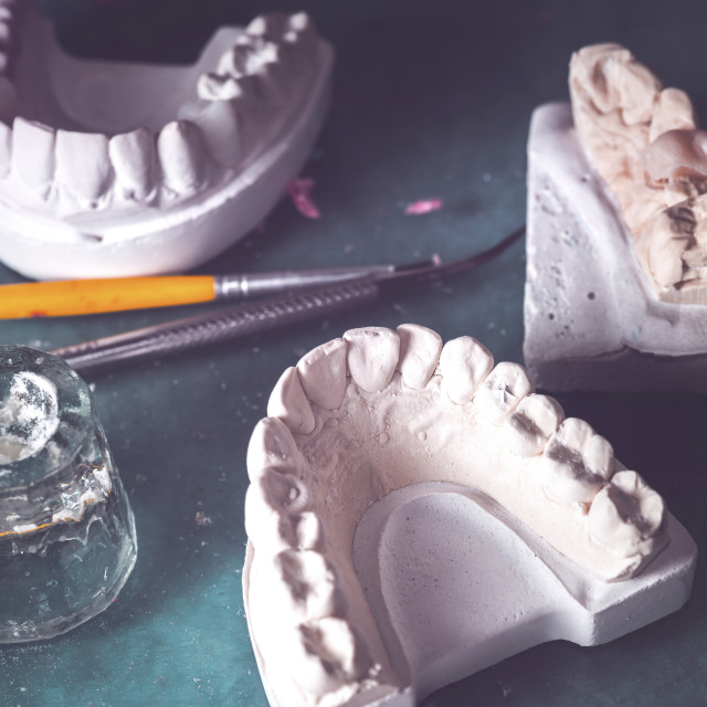 """Dental prosthesis in laboratory"" stock image"