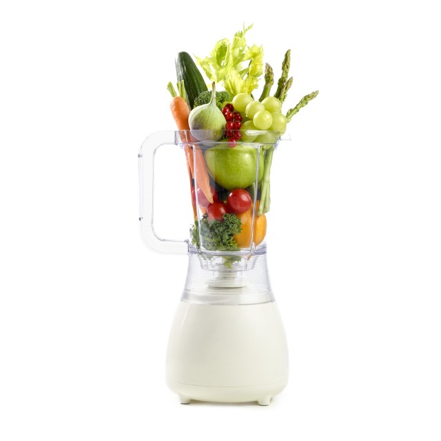 """Fresh produce in a blender"" stock image"