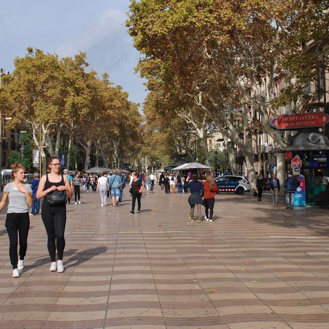 """La Rambla, Barcelona"" stock image"