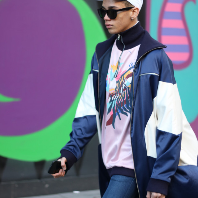 """London Fashion Week Mens"" stock image"