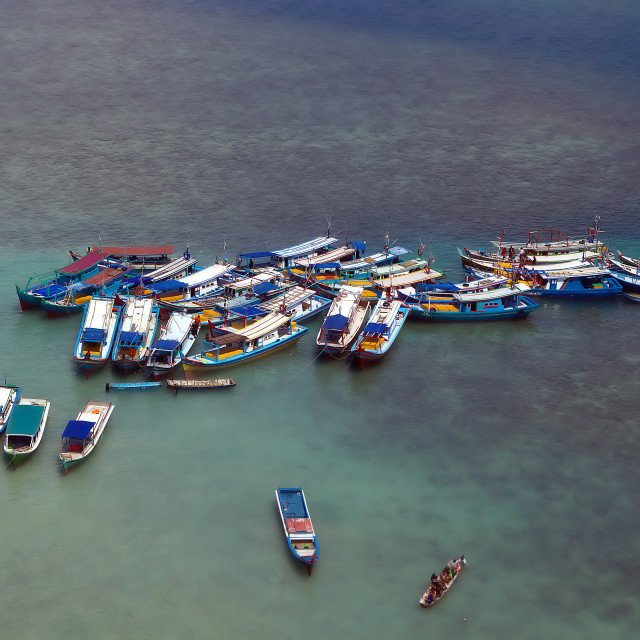 """Crowded Boats"" stock image"