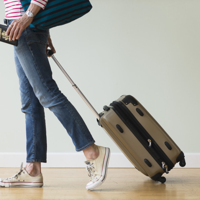 """""""Woman ready to go on vacations"""" stock image"""
