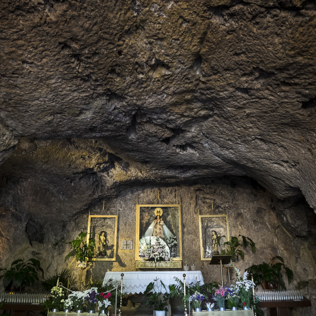 """Shrine to Virgin of Pena"" stock image"
