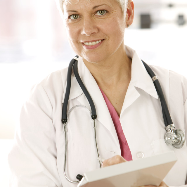 """Portrait of a female physician"" stock image"