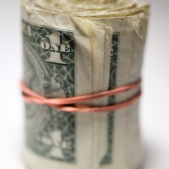 """""""A roll of cash"""" stock image"""