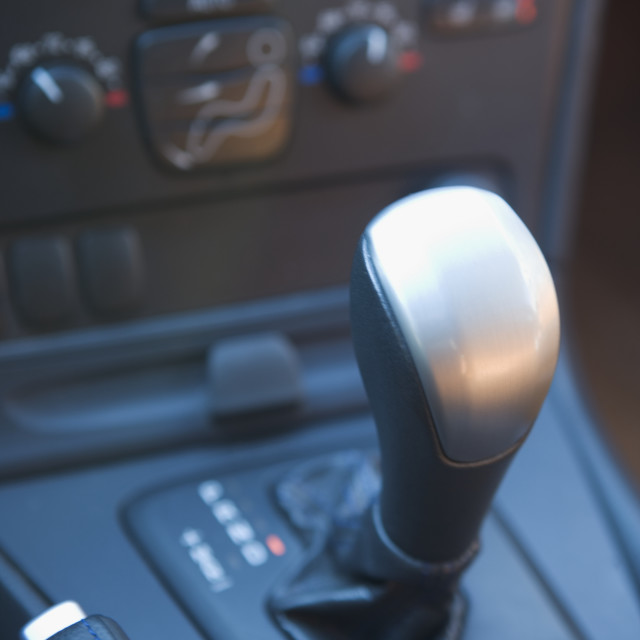 """Closeup of a gear shift"" stock image"