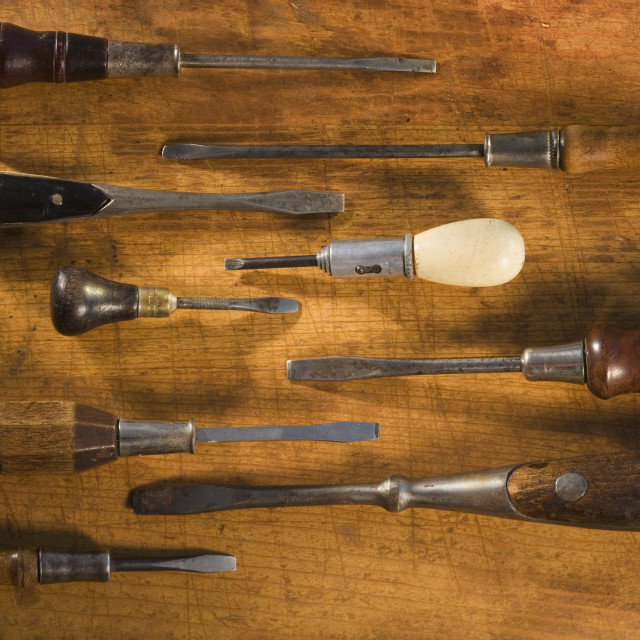 """Antique screwdrivers"" stock image"