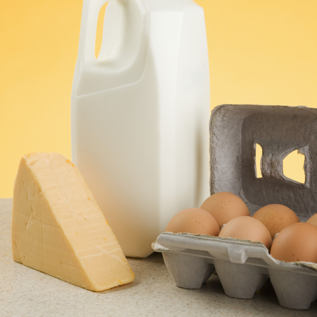 """""""Still life of dairy products"""" stock image"""