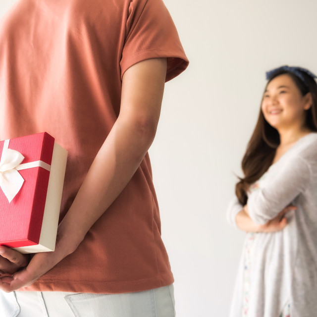 """""""suprise valentine gift from boyfriend"""" stock image"""