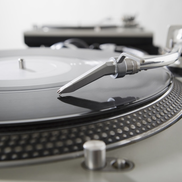 """""""Still life of turntables and record"""" stock image"""
