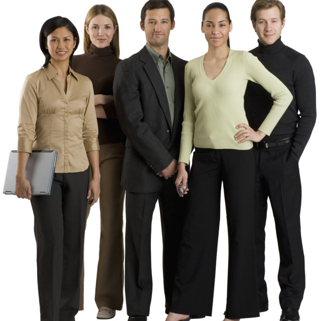 """Group of multi-ethnic businesspeople"" stock image"