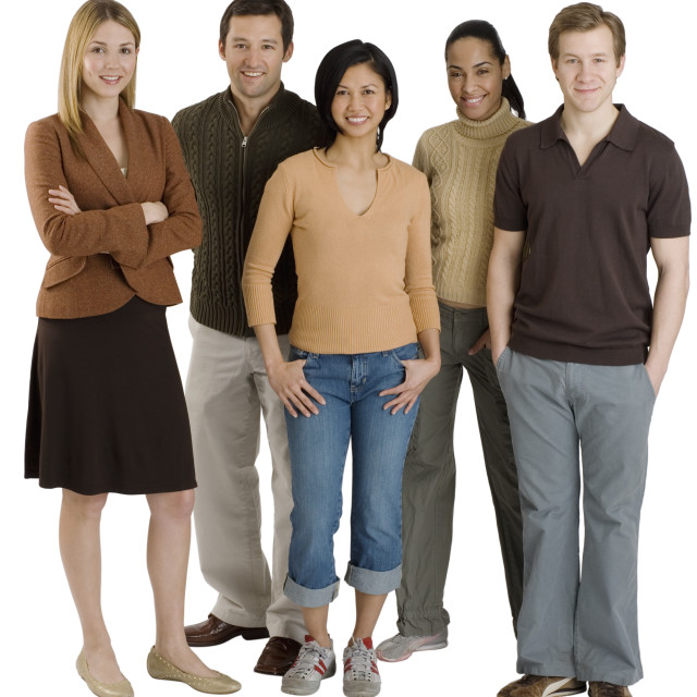 """Group of multi-ethnic friends"" stock image"