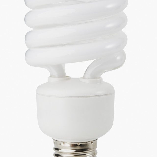 """""""Close up of energy conservation light bulb"""" stock image"""