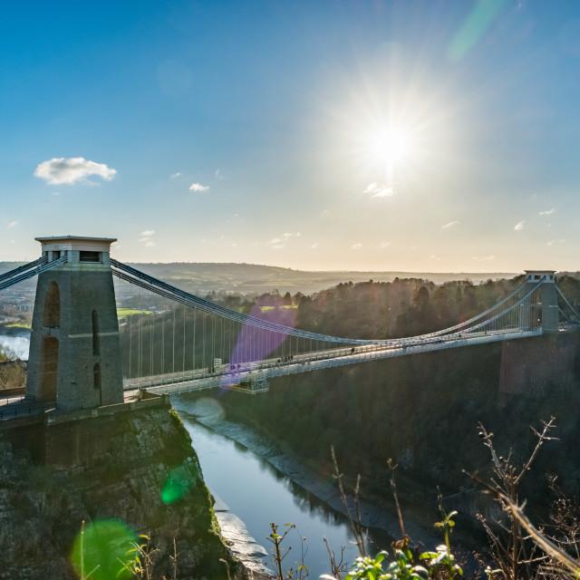 """""""Clifton Suspension Bridge."""" stock image"""