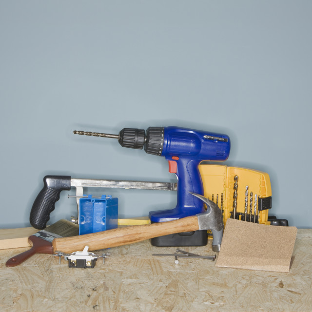"""Assorted home improvement tools"" stock image"