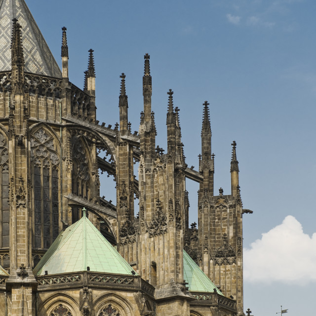 """Saint Vitus Cathedral in Prague"" stock image"