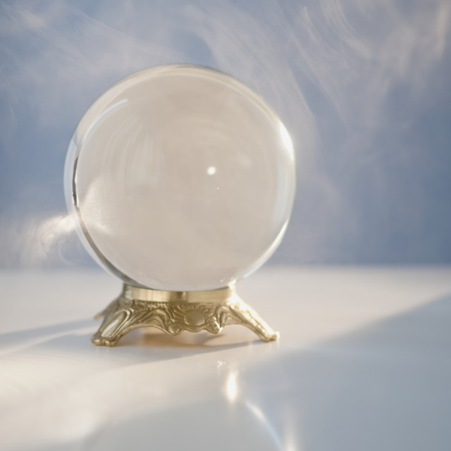 """""""Close up of crystal ball"""" stock image"""