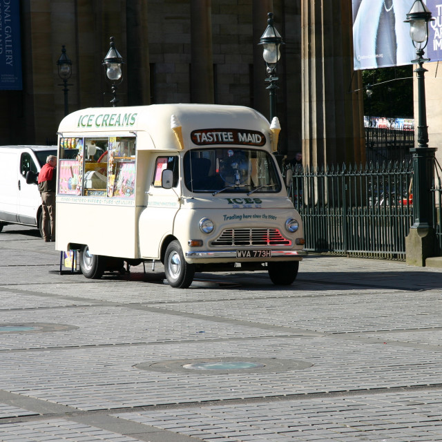 """BMC Ice Cream Van"" stock image"