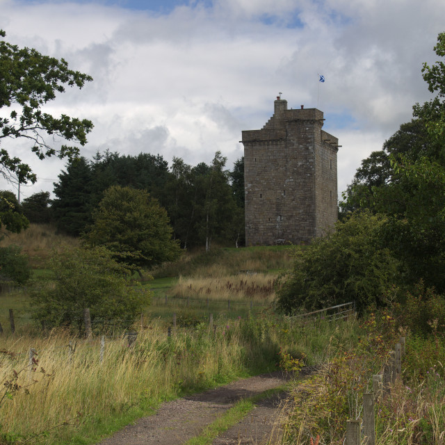 """Mains Castle, East Kilbride"" stock image"