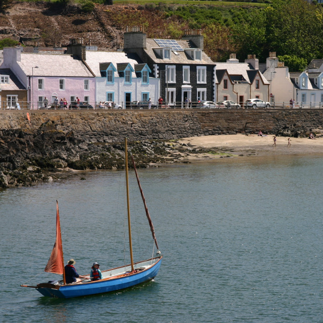 """Boat Leaving Portpatrick"" stock image"