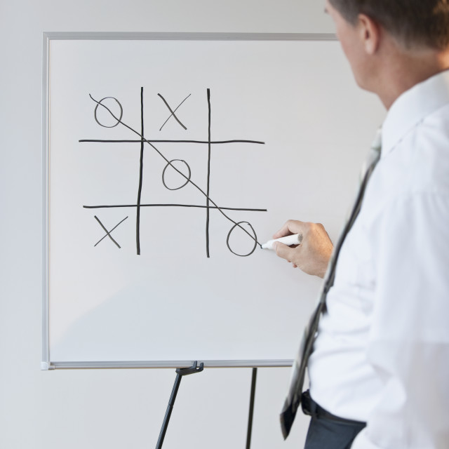 """Businessman drawing concept for winning"" stock image"