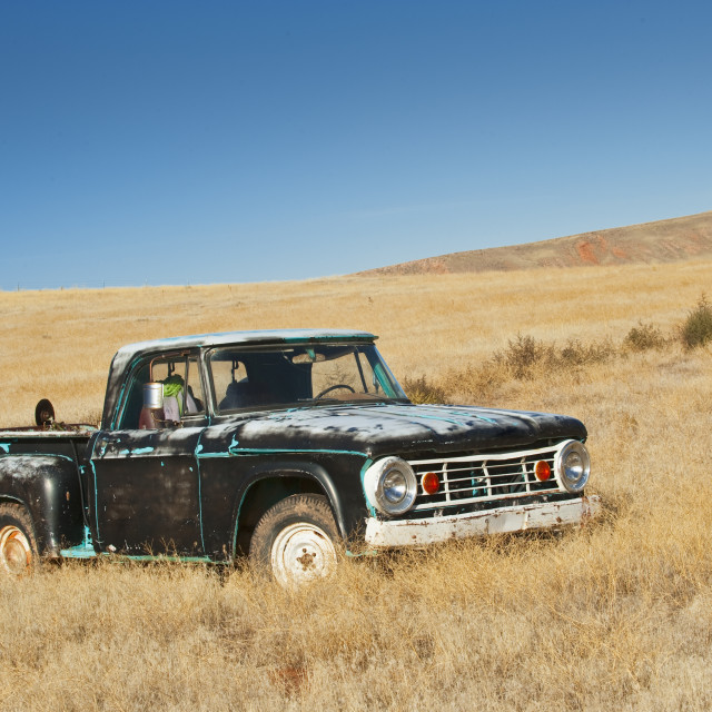 """Truck in field"" stock image"
