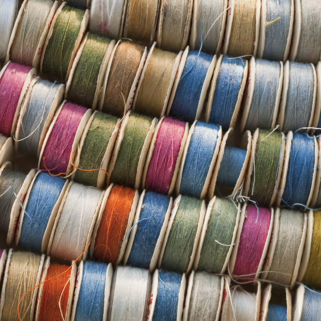"""Spools of thread"" stock image"