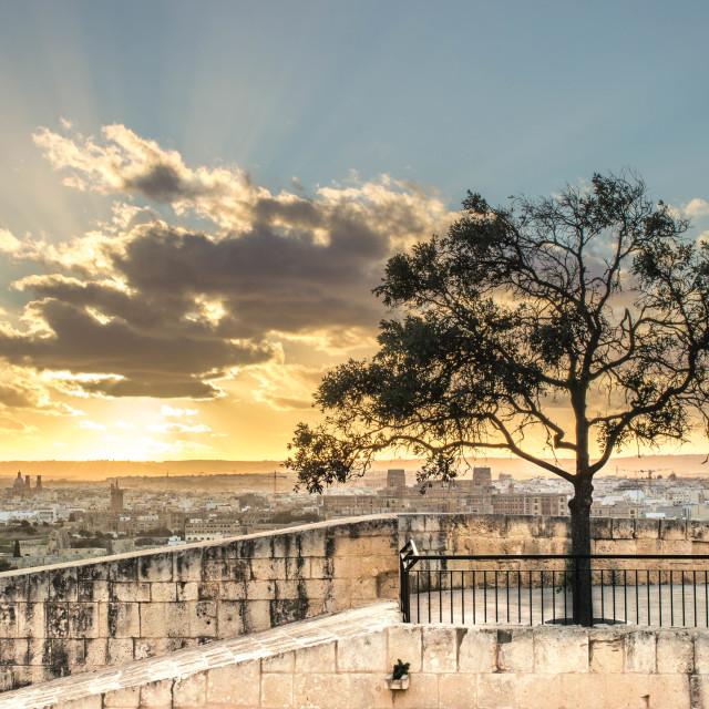 """Maltese Sunset Landscape"" stock image"