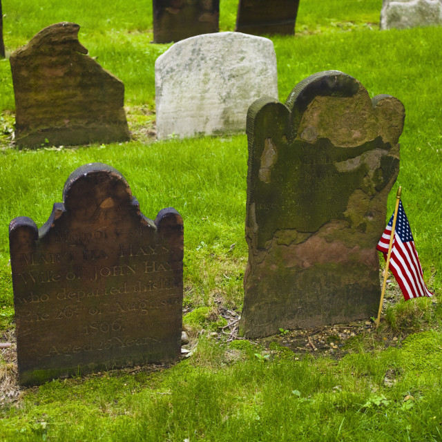"""Cemetery at Saint Paul's Church"" stock image"
