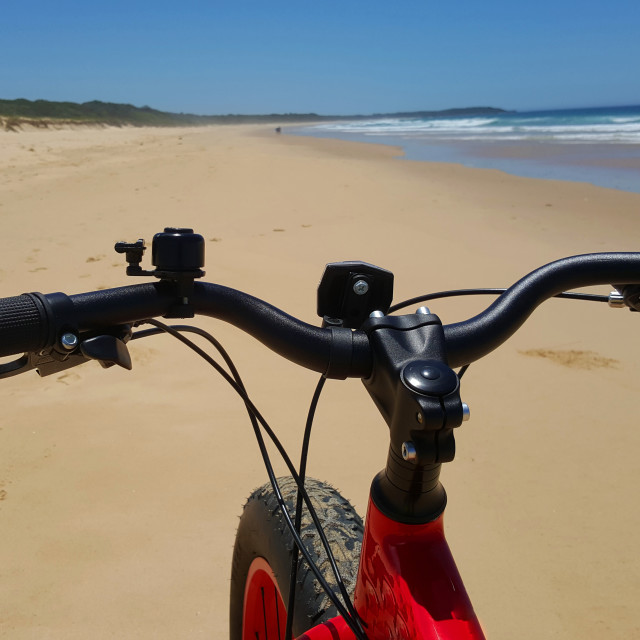 """""""Bicycle on the beach"""" stock image"""