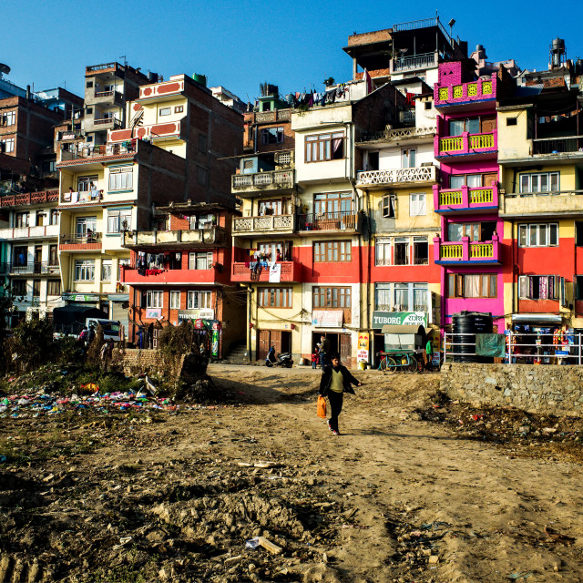 """Kirtipur Houses"" stock image"