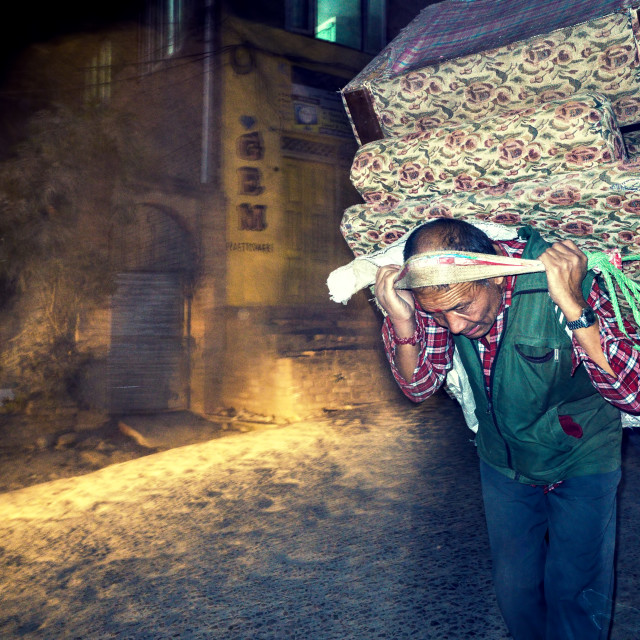 """Porter in Kirtipur"" stock image"