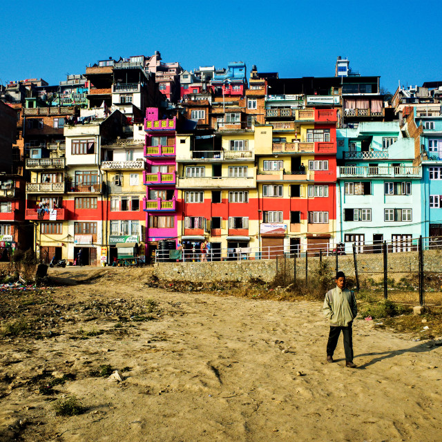 """Houses in Kirtipur"" stock image"