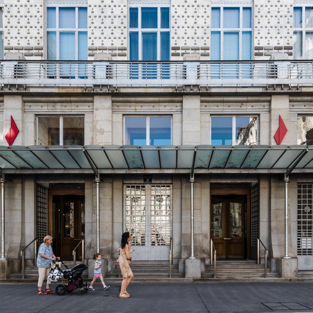 """Austrian Postal Savings Bank building in Vienna"" stock image"