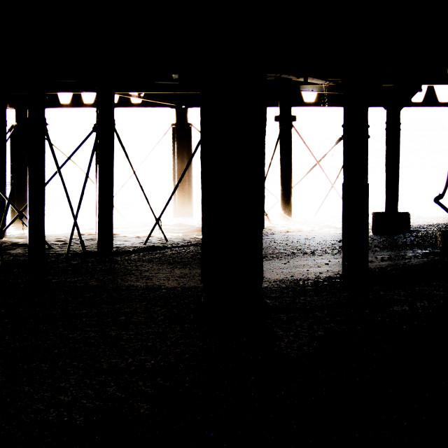 """Under the Boardwalk."" stock image"