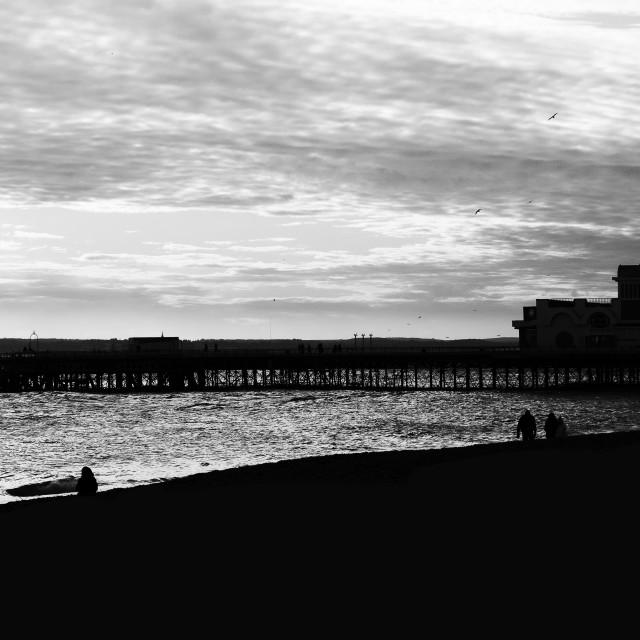 """Southsea Beach."" stock image"