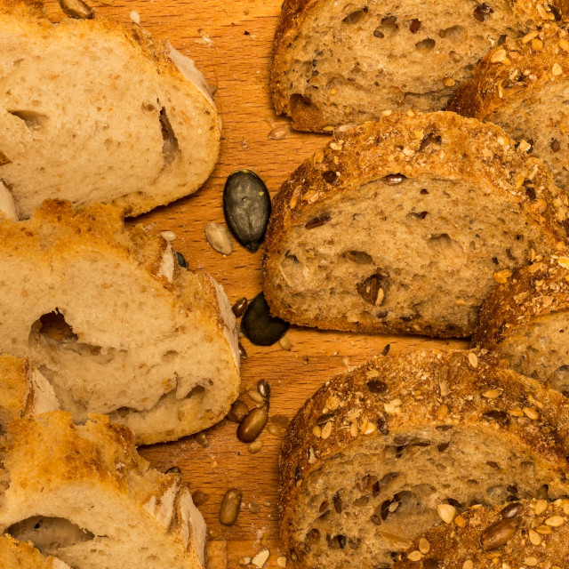"""Rye and spelta bread 8"" stock image"