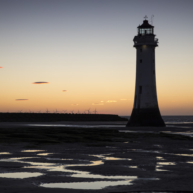 """Perch Rock Lighthouse"" stock image"