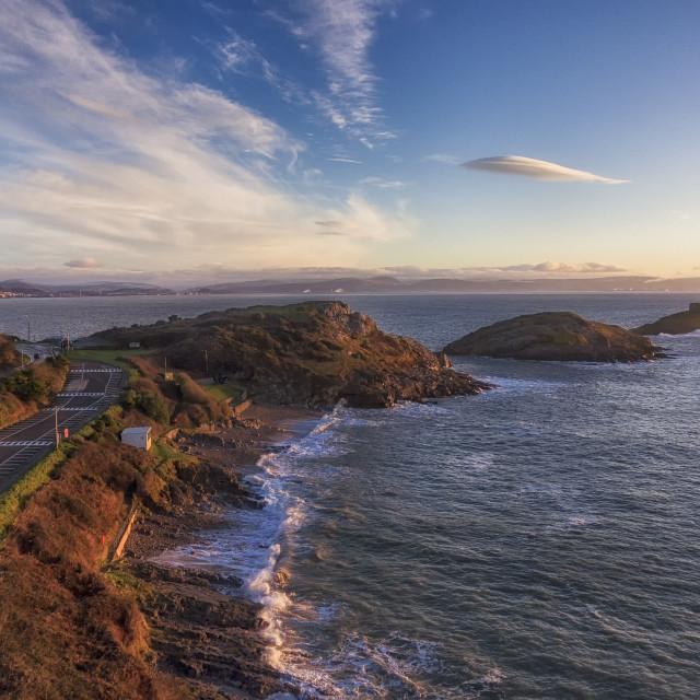 """""""Bracelet Bay in Swansea"""" stock image"""