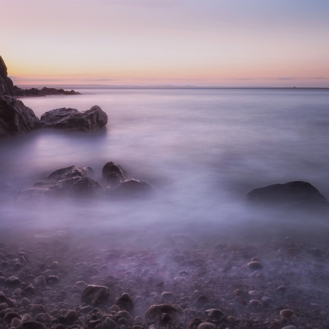 """""""Rotherslade Bay Gower"""" stock image"""