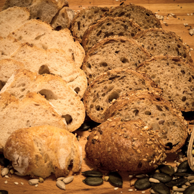 """Grain and spelta bread with cereals 6"" stock image"