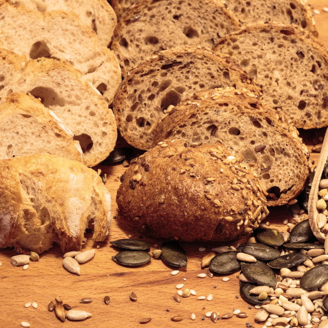 """Grain and spelta bread with cereals 5"" stock image"