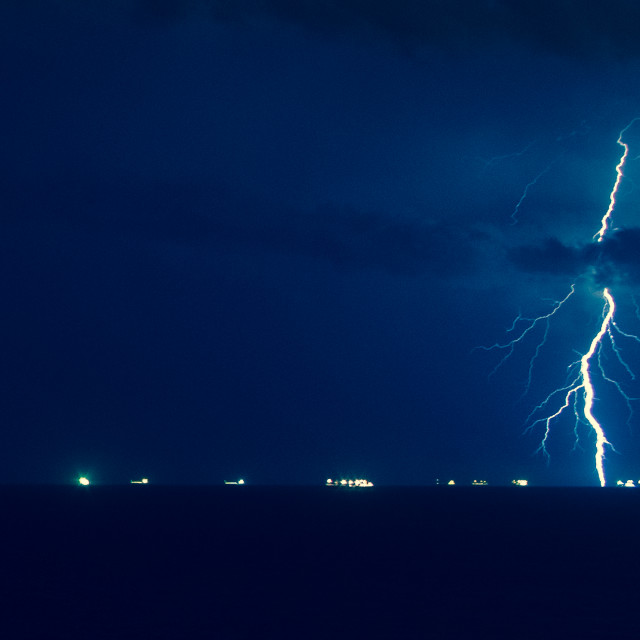 """Lightning in Malta"" stock image"