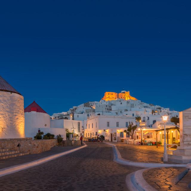 """""""Astypalea chora and Querini castle"""" stock image"""