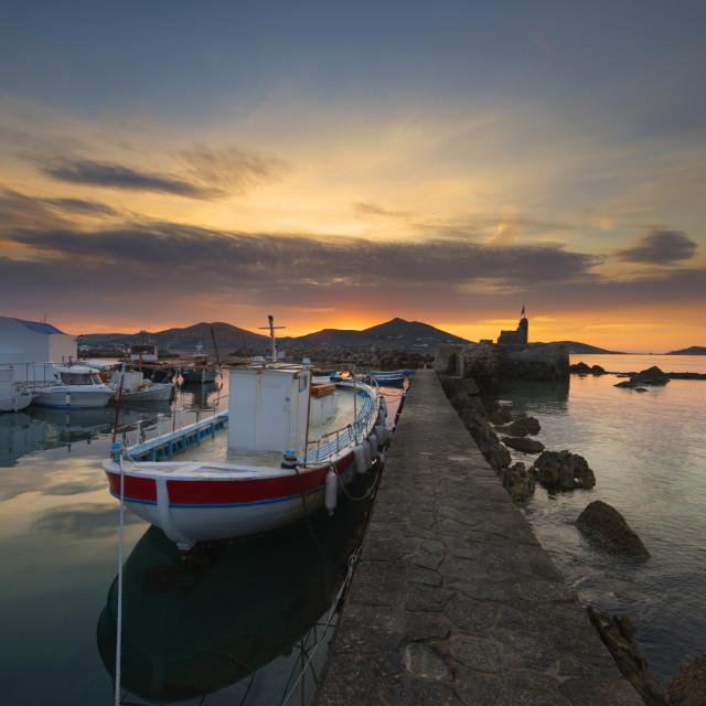 """""""Amazing Sunset at Naoussa Paros"""" stock image"""