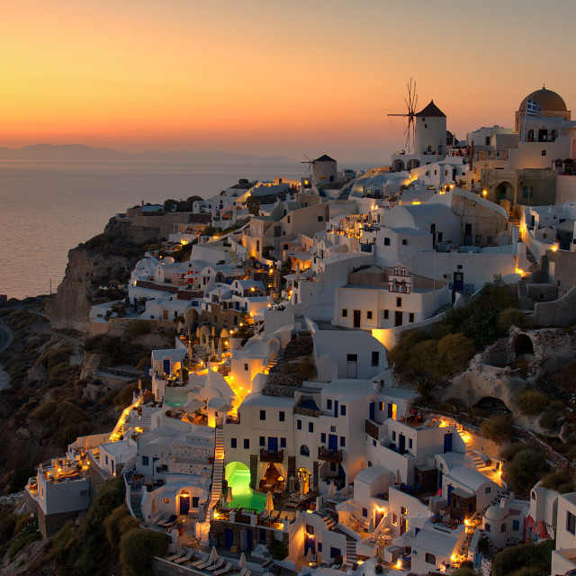 """""""Sunset at Oia"""" stock image"""
