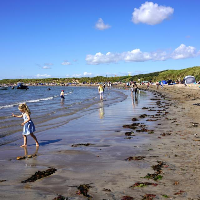 """Beadnell Beach, Northumberland"" stock image"